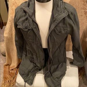 Military style hooded jacket